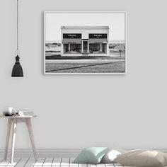 Prada Marfa Art Print, Fashion Photography, Fashion Wall Art, Prada Marfa Decor, Prada Shop Wall Art, Black and White Print, Printable