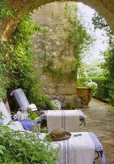 relaxing place - shabby chic patio