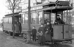 Berliner Strassenbahn ca.1918 Richtung Friedrichstrasse Ecke Mittelstrasse