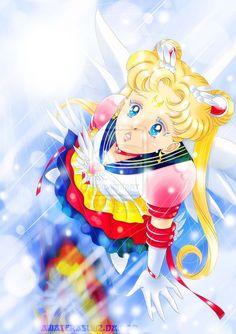 Eternal Sailor Moon fan art.