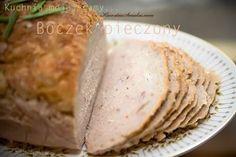 Pieczony boczek, pieczeń z boczku, przepis na pieczony mielony boczek, pieczeń domowa, smaczne mięso z piekarnika, domowe wędliny, przepis na domową wędlinę ze zdjęciem, galeria mięsa domowego