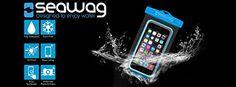 SEAWAG Universal Waterproof Case for Smartphone 5.7″ (Black/Blue)