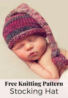 Free Stocking Hat Knitting Pattern. Sweater Knitting PatternsBaby Hats ... b9579bc20012