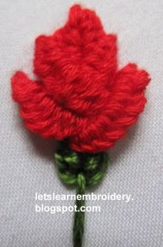 Let's learn embroidery: Rosebud-buttonhole knot 2