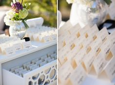 Escort cards // photo by Elizabeth Scott Photography