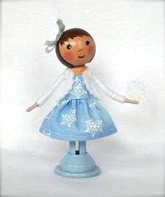 Cotton Candy Dolls: Clothespin Dolls