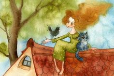 Сидела женщина с котом: очень уютное стихотворение о душевных разговорах