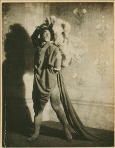 Portrait of Vaslav Nijinsky in Till Eulenspiegel, New York, 1916. Photo by Karl Struss