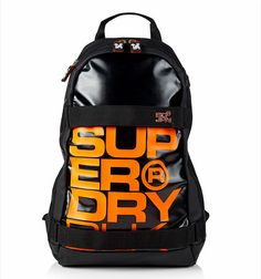 a192521f24 SUPERDRY - SUPER BLACK Backpack - Laptop Bag - NEW - Black in Clothing