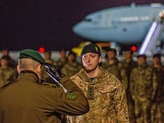 The first of 800 UK troops have arrived in Estonia as part of a Nato plan to deter Russian aggression in the Baltic. Some 120 soldiers from the 5th Battalion The Rifles landed at the Amari airbase, 25 miles south-west of the capital Tallinn. They were welcomed by Estonia's defence minister Margus Tsahkna on their arrival from RAF Brize Norton in Oxfordshire on Friday.