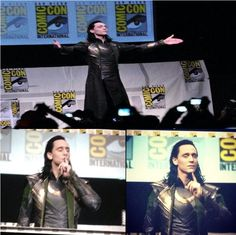 Loki crashes SDCC.  Love Hiddles, he would go to SDCC dressed as Loki!!!