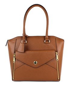 This Cognac Fenwick Tote is perfect! #zulilyfinds