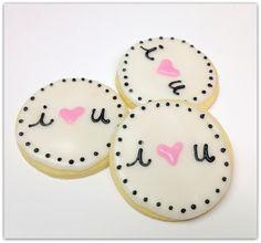 Valentine Sugar Cookie I Heart You Pink by SugarMeDesserterie