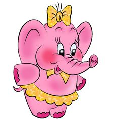 Pink Elephant Dressed In Yellow