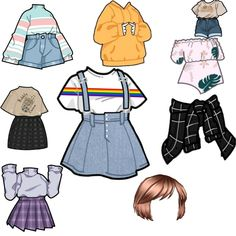 Cute Simple Outfits, Cool Outfits, Casual Outfits, Fashion Outfits, Balmain Sweater, Drawing Anime Clothes, Clothing Sketches, Fashion Design Sketches, Character Outfits