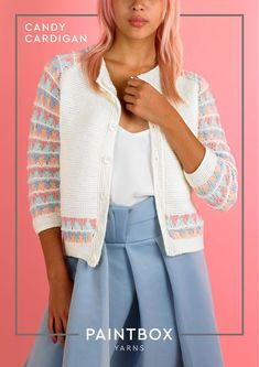 546c3779585d1 Candy Cardigan in Paintbox Yarns Baby DK - Downloadable PDF. Knitting  Patterns ...