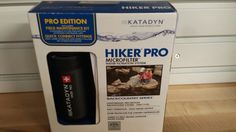 Katadyn Hiker Pro. I had the larger one, but returned it because it wasn't working properly. Got the smaller lighter weight one in exchange. I do need to run it once before the next trip though. Still need backup sterile tablets for emergencies!