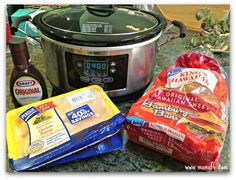 Easy Crockpot Meals BBQ Chicken Sandwiches1 BBQ Chicken Sandwiches  A Simple Crockpot Meal! {Road Trip Cooking}
