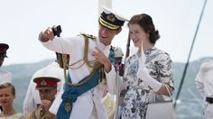 Oh to be on a boat with Matt Smith as Duke of Edinburgh in The Crown  #jelly #Netflix