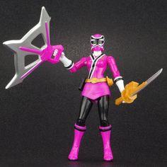 "Power Rangers Samurai Pink SKY RANGER 4"" Action Figure MMPR Bandai 2011 #Bandai"