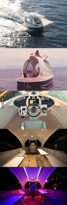 Oh my gosh.  A capsule-jet-boat-yacht.  So awesome.