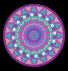 """Mandala 095  There is a coloring page of this on my other board """"Mandala Coloring Pages."""""""