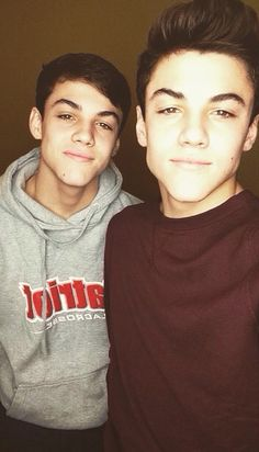 Grayson and Ethan Dolan I still can't believe they are 15, I'm older than them