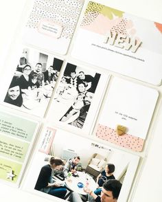 Project life, pocket scrapbook layout, memory keeping