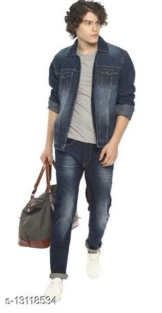 Checkout this latest Jackets Product Name: *Denim Jacket for Men* Fabric: Denim Sizes: S, M, L (Length Size: 26 in)  XL, XXL Country of Origin: India Easy Returns Available In Case Of Any Issue   Catalog Rating: ★4 (372)  Catalog Name: Trendy Elegant Men Jackets CatalogID_2560267 C70-SC1209 Code: 228-13118534-1602