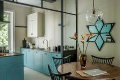 błękitna kuchnia warszawskie mieszkanie3