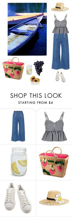 """""""Bois de Boulogne"""" by jenhowell ❤ liked on Polyvore featuring Steve J & Yoni P, Topshop, Sur La Table, adidas, Kate Spade and Trademark Fine Art"""