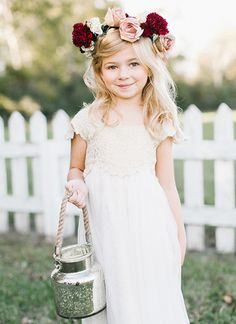 flower girl floral crown | Kristen Kilpatrick