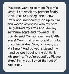 Faith In Humanity Restored I think I just fell in love with Peter Pan Disney Love, Disney Magic, Walt Disney, Disney Parks, Disney Cast, Disney Bound, Disney Land Funny, Disney Stuff, Be My Hero
