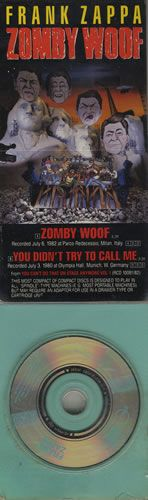 """For Sale - Frank Zappa Zomby Woof - Longpack USA  3"""" CD single (CD3) - See this and 250,000 other rare & vintage vinyl records, singles, LPs & CDs at http://eil.com"""
