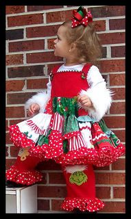 81a816c1ac83 christmas dress for toddlers girls | girls boutique grinch christmas  pageant dress outfit pants Christmas Pageant