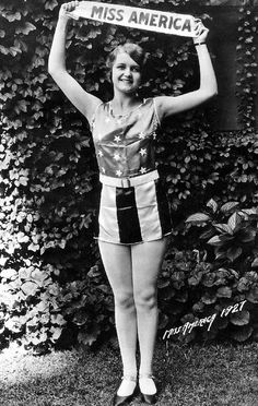 miss america, 1927 whoa this woman wouldn't even qualify these days! She looks like a real human being :)