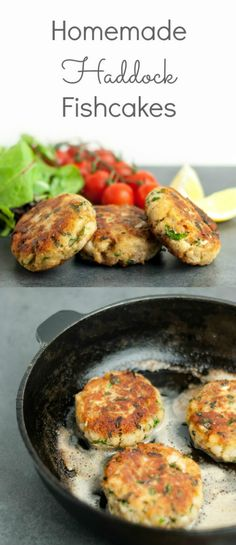 Quick and easy homemade haddock fishcakes which are crispy on the outside and soft and flaky inside. A perfect recipe for using up any fish leftovers which will provide a healthy meal at any time of t (Fancy Seafood Recipes) Homemade Fish Cakes, Fish Cakes Recipe, Easy Fish Cakes, Healthy Recipes, Vegetarian Recipes, Cooking Recipes, Cooking Videos, Crockpot Recipes, Salmon Recipes