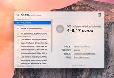Cómo usar el conversor de monedas con Spotlight en Mac OS X - http://www.soydemac.com/como-usar-el-conversor-de-monedas-con-spotlight-en-mac-os-x/
