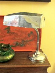 Antiques Atlas - Art Deco Desk Lamp In Chrome Material: chrome Condition: Good Origin: French Circa: 1930