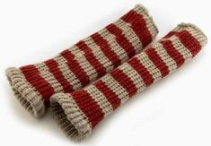 The Knifty Knitter: Leg Warmers with Stripes