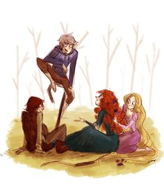 Hiccup Jack Merida and Rapunzel// the big four