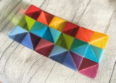 Geometric Pattern Fused Glass Plate Fused Glass Art