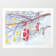 November Art Print by Maia Kobabe