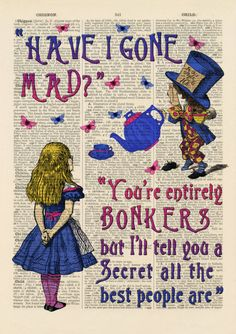Alice in Wonderland Book Page Prints Set 2 Pink. Cheshire Cat and Alice. This Artwork has been printed directly onto antique dictionary pages. Book Page Art, Up Book, Book Pages, Book Art, Alice And Wonderland Quotes, Alice In Wonderland Party, Adventures In Wonderland, Alice In Wonderland Artwork, Alice In Wonderland Photography