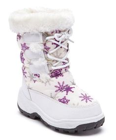 Adorababy White Snowflake Snow Boot   zulily