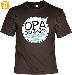 T-Shirt für Opa: Opa des Jahres. Vorbild, Kumpel, Handwerker, Beschützer,.... - Geschenk, Geburtstag - braun (*Partner-Link)