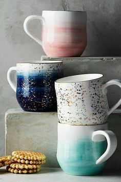 Pretty mugs make me want tea