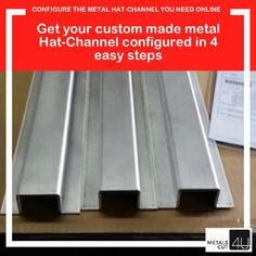 Get the #metal #hat-channel fabricated for you in 4 simple steps. Choose from #aluminum #stainless or #steel and enter the dimensions you need. Ideal for your #DIY #HOMEREPAIR #RENOVATION #project via MetalsCut4U.com