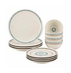 Rachael Ray® Cucina Sun Daisy 12-pc. Stoneware Dinnerware Set