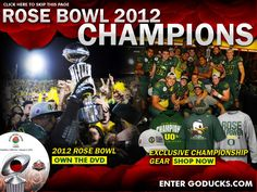 And that's all she wrote. Rose Bowl champs! #GoDucks